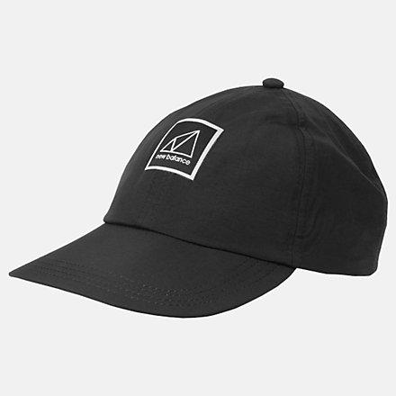 New Balance Crushable Run Hat, LAH03008BK image number null