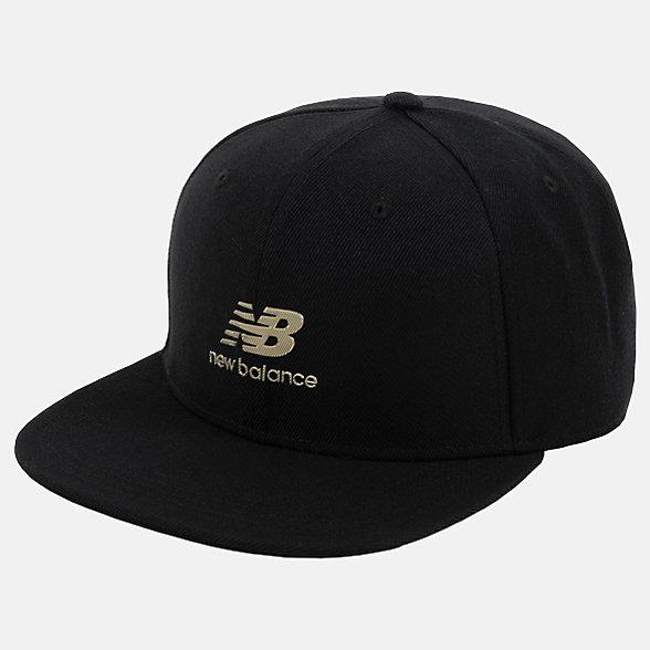 New Balance 男女同款休闲棒球帽, LAH03014BK