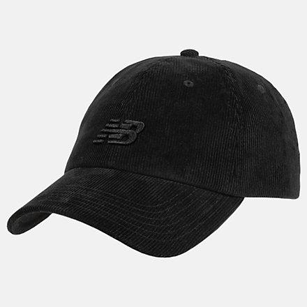 New Balance NB Seasonal Corduroy Hat, LAH03017BK image number null