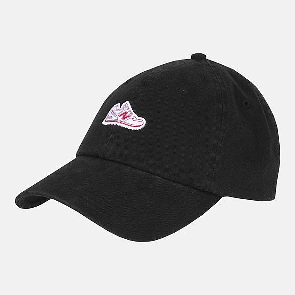 New Balance 男女同款休闲棒球帽, LAH11003BK