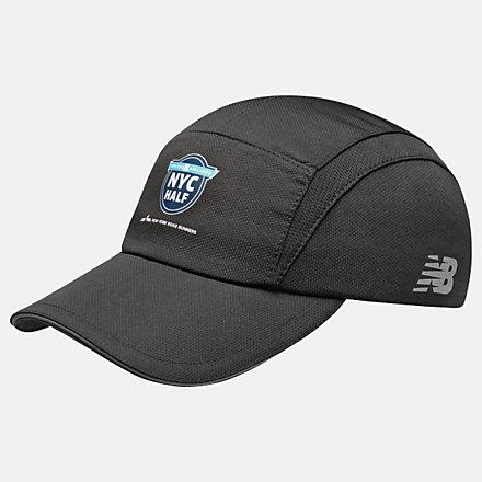 New Balance United Half 5-Panel Performance Hat, LAH11005BK image number null