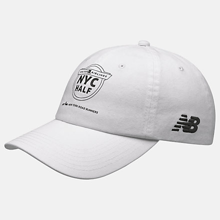 New Balance United Half 6-Panel Classic Hat, LAH11006WT image number null