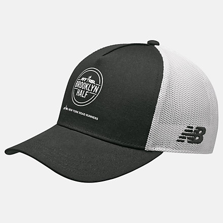 New Balance Brooklyn Half Trucker Hat, LAH11013BK image number null