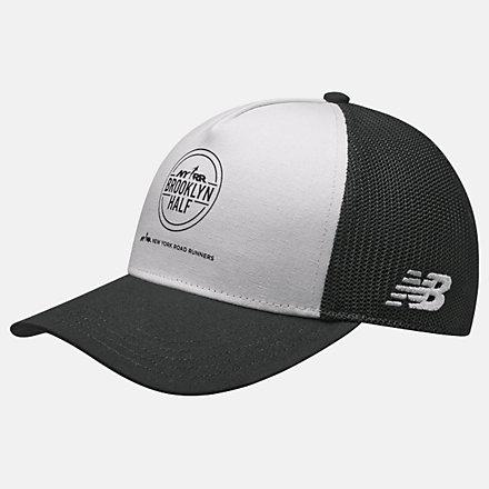 New Balance Brooklyn Half Trucker Hat, LAH11013WT image number null