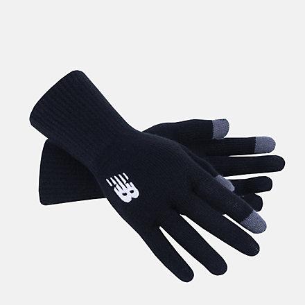 NB NB Knit Gloves, LAH13006BK image number null