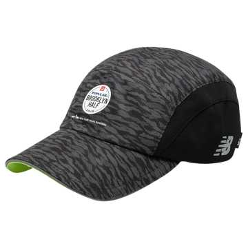 New Balance Brooklyn Half 5 Panel Performance Hat, Black Camo