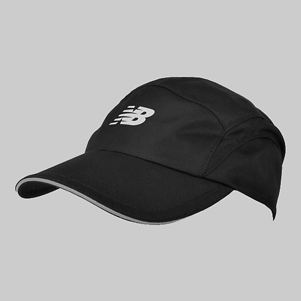 New Balance 5 Panel Performance Hat, LAH91003BK