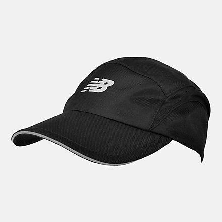 New Balance 5 Panel Performance Hat, LAH91003BK image number null