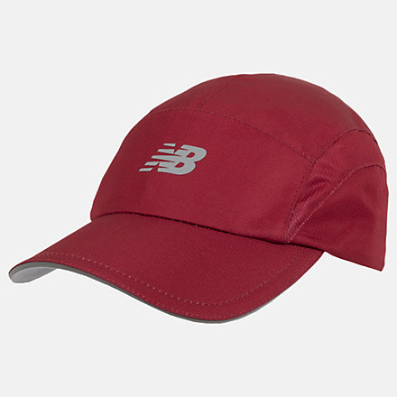 New Balance 5 Panel Performance Hat, LAH91003NCR image number null