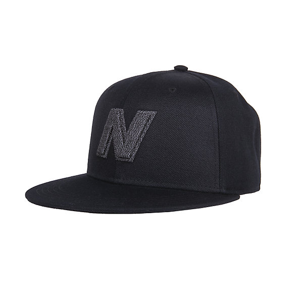 New Balance Exploded Logo Hat, LAH93001BK