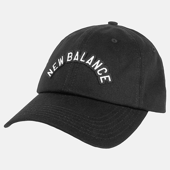 New Balance 男女同款休闲棒球帽, LAH93004BK