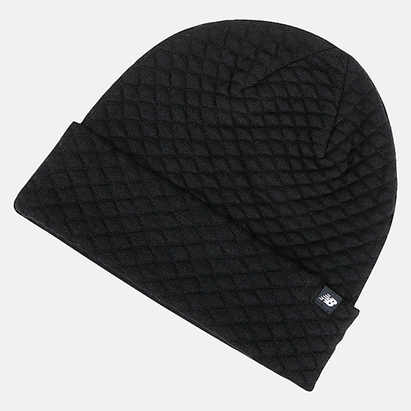 New Balance Warm Up Knit Beanie, LAH93007BK