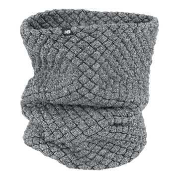 New Balance Warm Up Knit Snood, Athletic Grey Heather