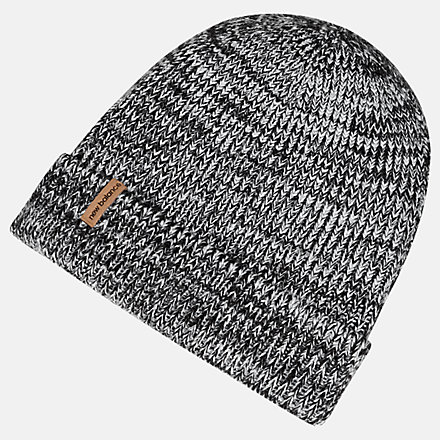 New Balance Oversize Cuff Watchman Beanie, LAH93009BK image number null