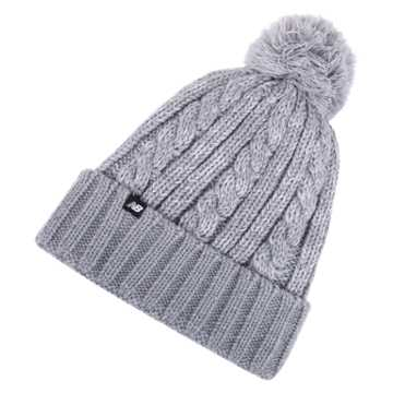 New Balance Winter Pom Beanie, Athletic Grey Heather