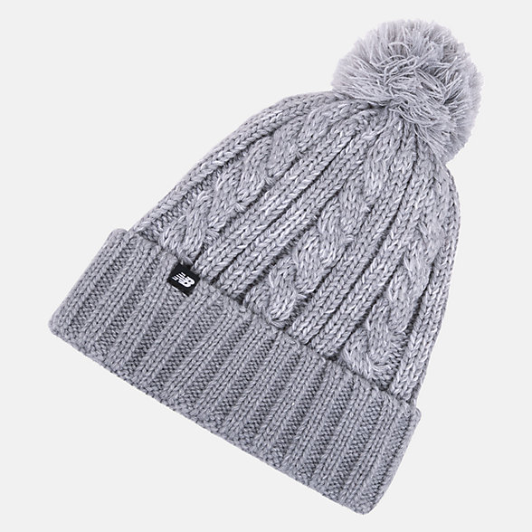 New Balance Winter Pom Beanie, LAH93010AG