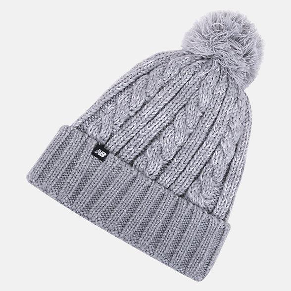 New Balance Bonnet d'hiver à pompon, LAH93010AG