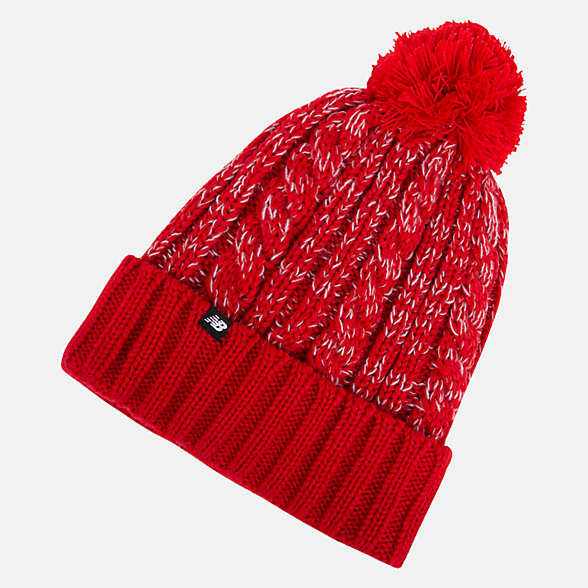 New Balance Winter Pom Beanie, LAH93010TRE