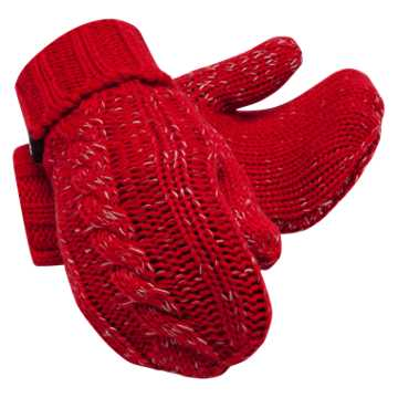 New Balance Winter Mittens, Team Red
