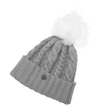 New Balance Lux Knit Pom Beanie, Athletic Grey Heather
