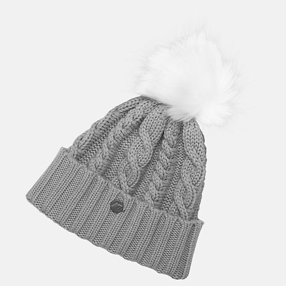 NB Lux Knit Pom Beanie, LAH93012AG