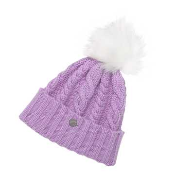 New Balance Lux Knit Pom Beanie, Kite Purple