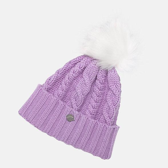New Balance Lux Knit Pom Beanie, LAH93012KPL