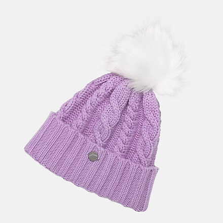 New Balance Lux Knit Pom Beanie, LAH93012KPL image number null