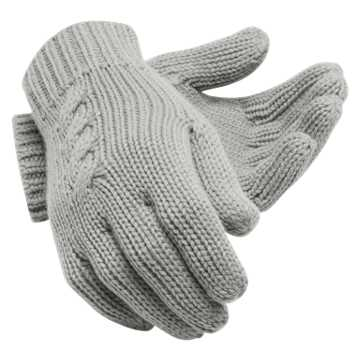 New Balance Lux Knit Gloves, Athletic Grey