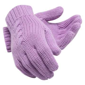 New Balance Lux Knit Gloves, Kite Purple