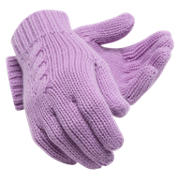 NB Lux Knit Gloves, Kite Purple