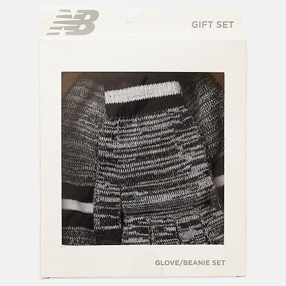 New Balance Ensemble cadeau de bonnet et gants, LAH93014BK