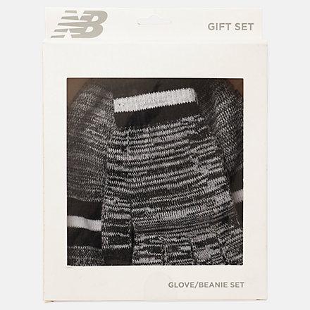 New Balance Ensemble cadeau de bonnet et gants, LAH93014BK image number null