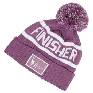 New Balance NYC Marathon Finisher Pom Beanie, Kite Purple