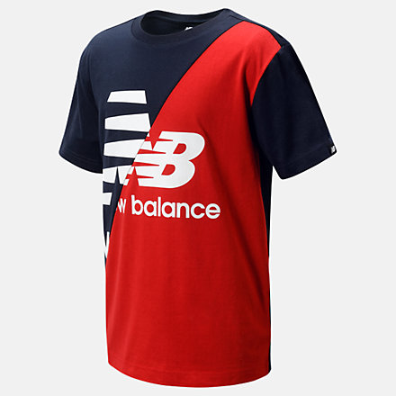 New Balance Lifestyle Splice Tee, LAK11B03ECL image number null
