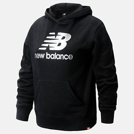 New Balance Core Fleece Hoodie, LAK11Q12BK image number null