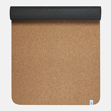 New Balance Cork Yoga Mat, LAO63787NA image number null