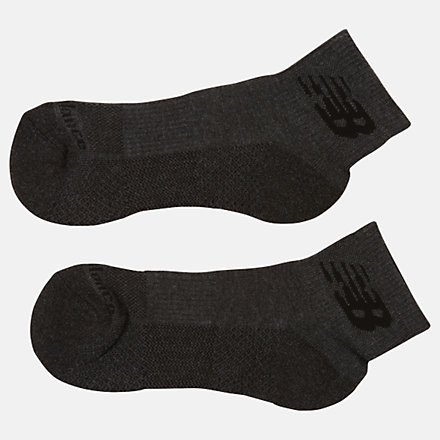 New Balance Cooling Cushion Performance Quarter Socks 2 Pair, LAS00322GRY image number null
