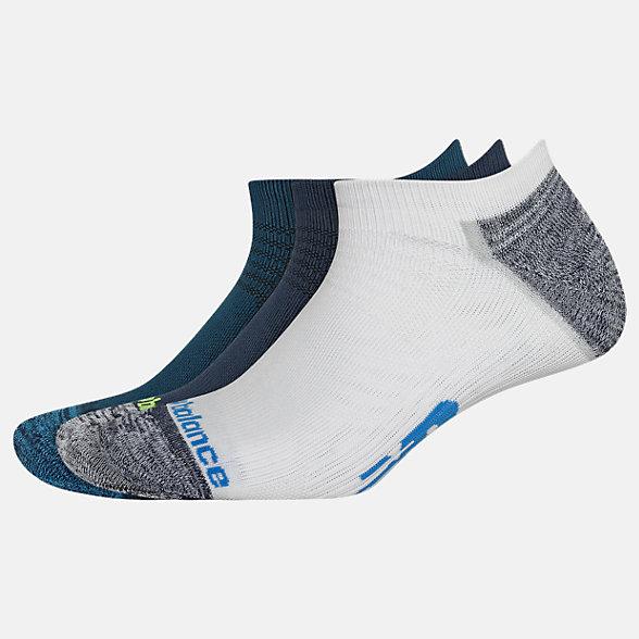 New Balance Strategic Cushion No Show Socks 3 Pack, LAS00423NV