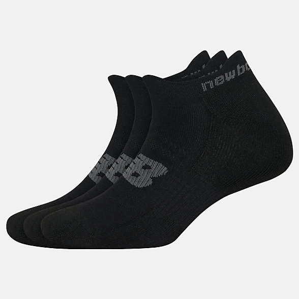 New Balance Strategic Cushion Lowcut Tab Socks 3 Packs, LAS00553BK