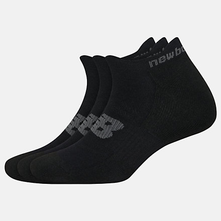 New Balance Strategic Cushion Lowcut Tab Socks 3 Packs, LAS00553BK image number null