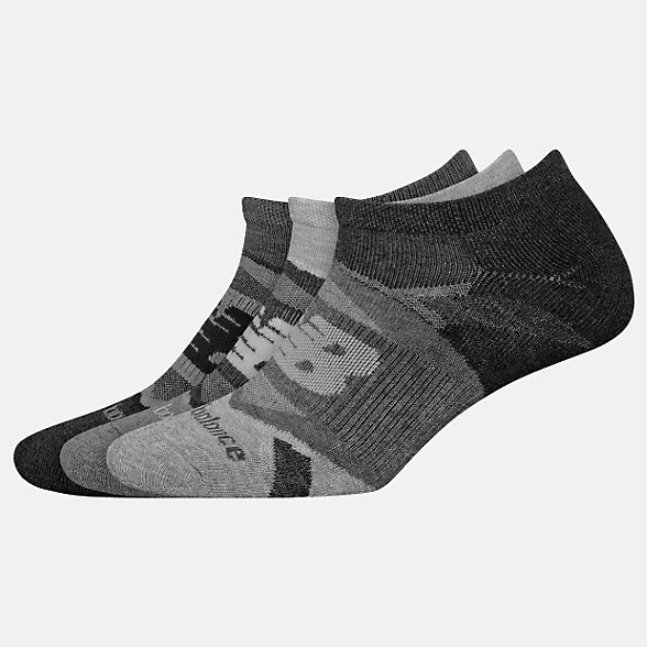 New Balance Performance Cushion No Show Socks 3 Pack, LAS00823GR