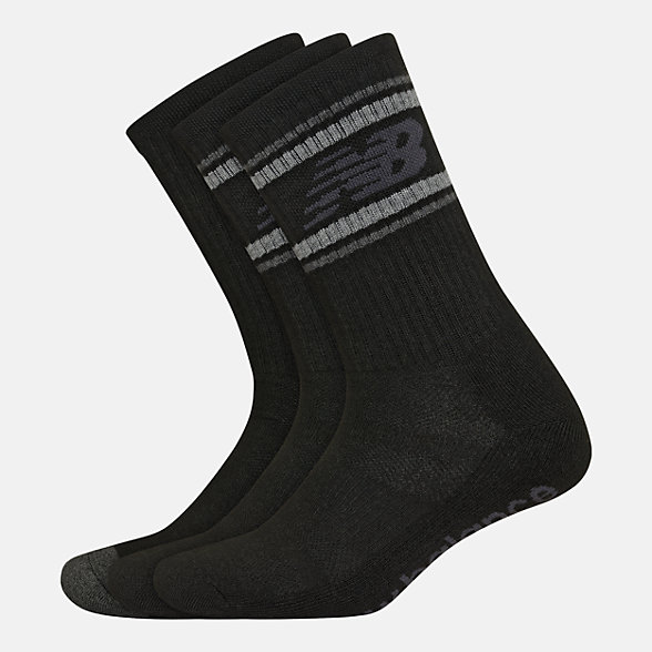 New Balance Performance Cushion Crew Socks 3 Pack, LAS01063BK