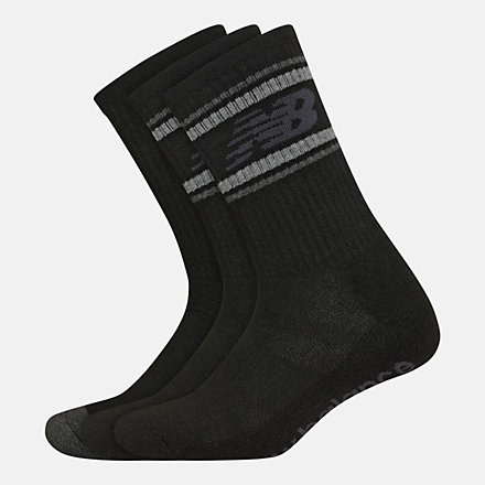 New Balance Performance Cushion Crew Socks 3 Pack, LAS01063BK image number null
