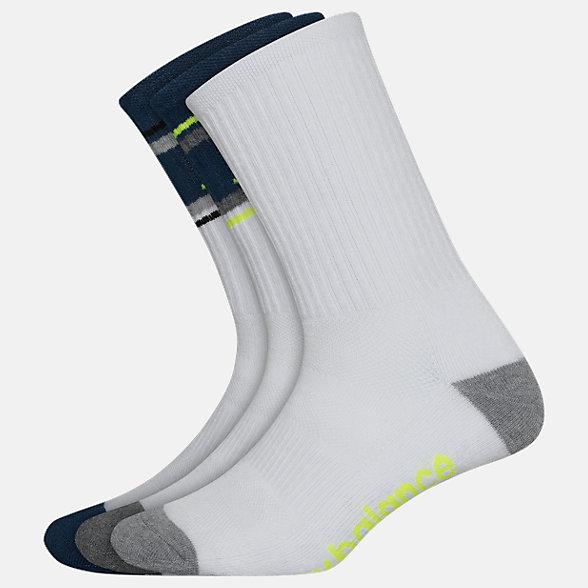 New Balance Performance Cushion Crew Socks 3 Pack, LAS01063WM