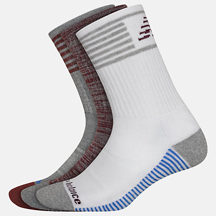 New Balance Performance Cushion Crew Socks 3 Pack, LAS01163AS image number null