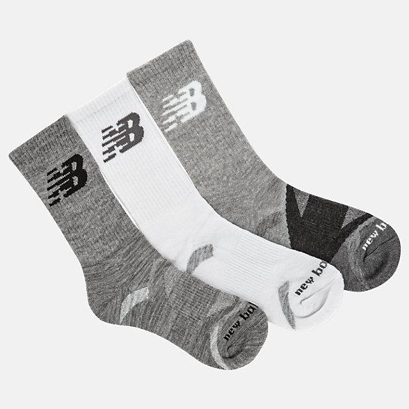 New Balance Performance Cushion Crew Socks 3 Pack, LAS01263GR
