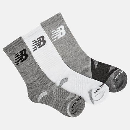 New Balance Performance Cushion Crew Socks 3 Pack, LAS01263GR image number null