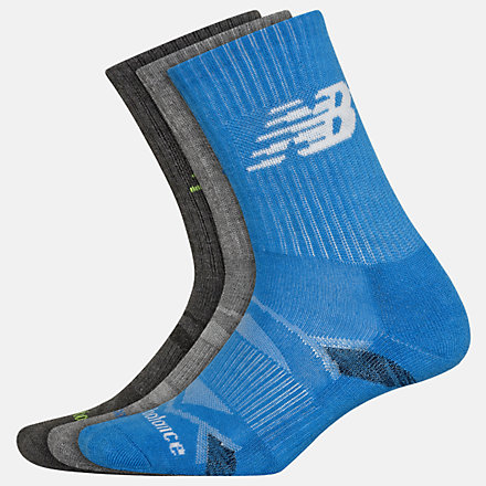 New Balance Performance Cushion Crew Socks 3 Pack, LAS01263NV image number null