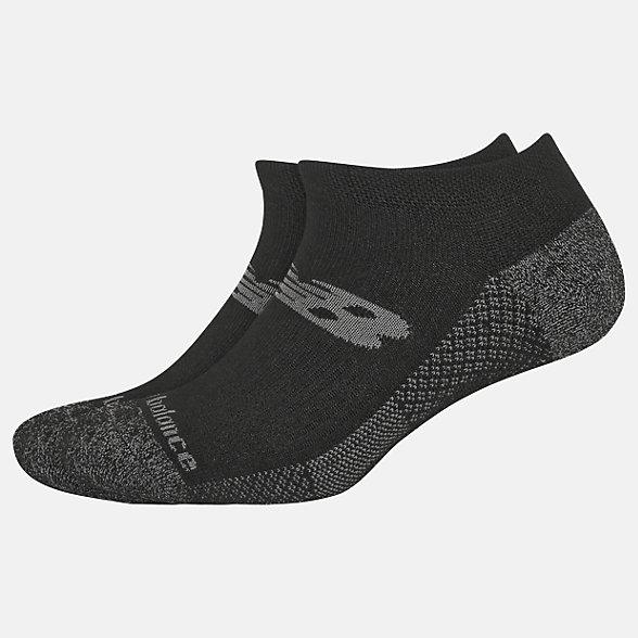 New Balance Cooling Cushion Performance No Show Socks 2 Pair, LAS01422BK